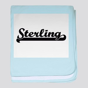 Sterling Classic Retro Name Design baby blanket