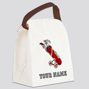 Golf Bag On Wheels (Add Name) Canvas Lunch Bag