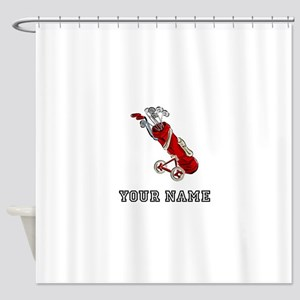 Golf Bag On Wheels (Add Name) Shower Curtain