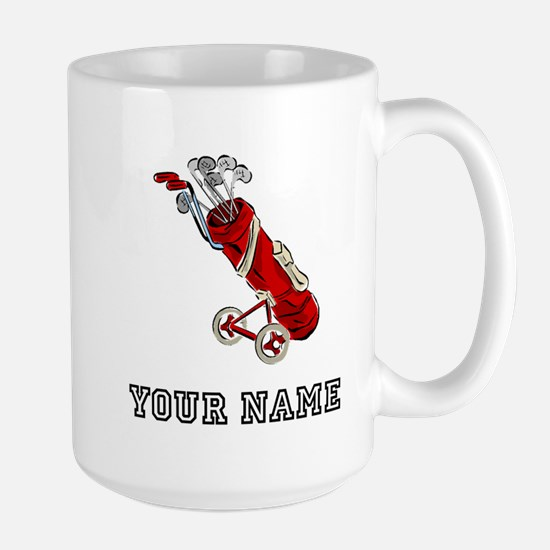 Golf Bag On Wheels (Add Name) Mugs