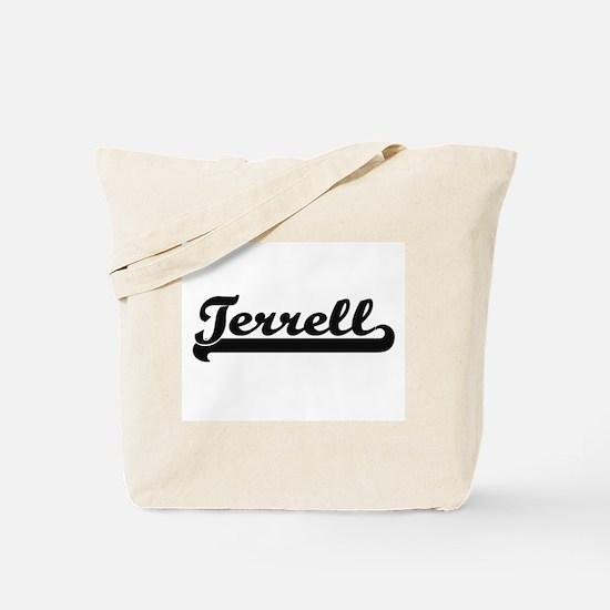 Terrell Classic Retro Name Design Tote Bag