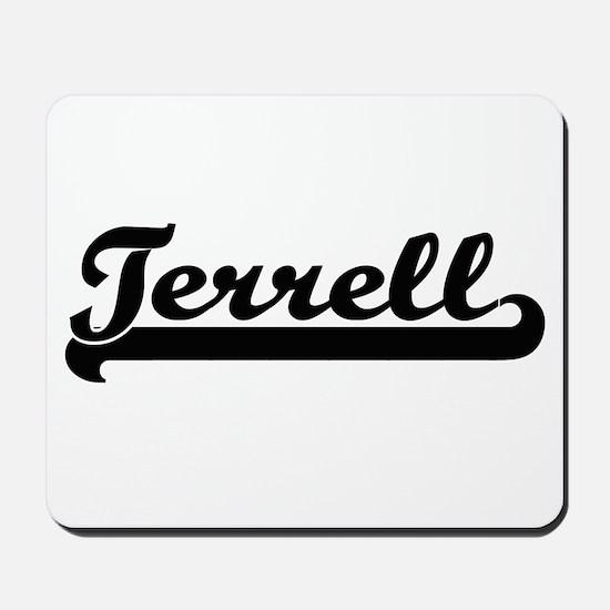 Terrell Classic Retro Name Design Mousepad