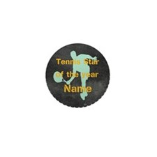 Cool Tennis Star Mini Button