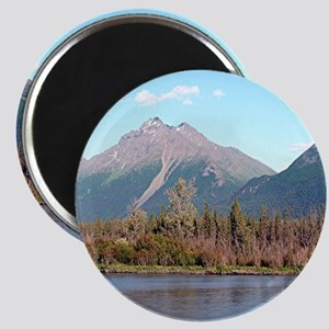 Alaskan mountains and river, Alas Magnets
