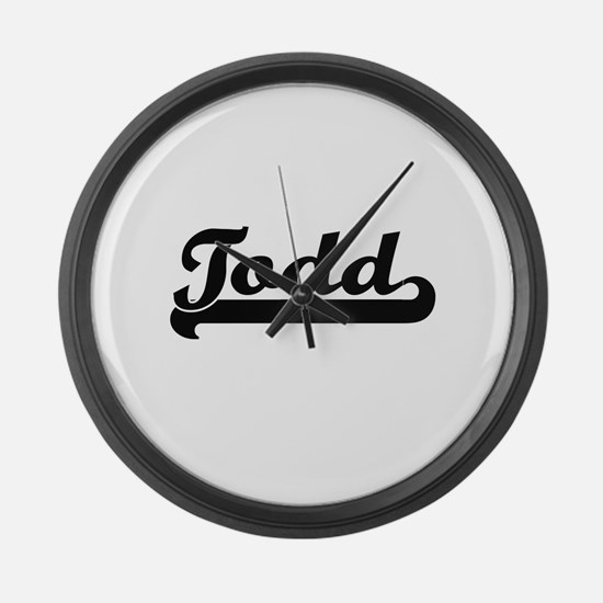 Todd Classic Retro Name Design Large Wall Clock