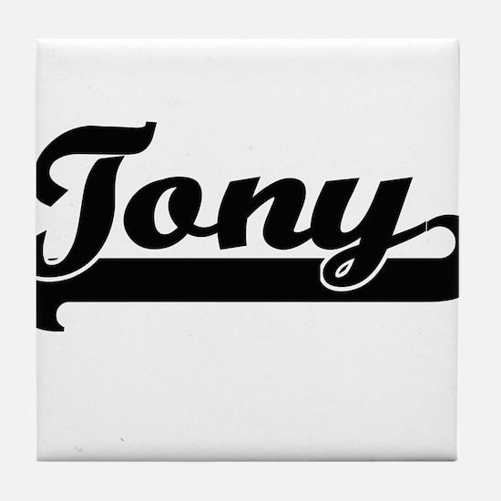 Tony Classic Retro Name Design Tile Coaster