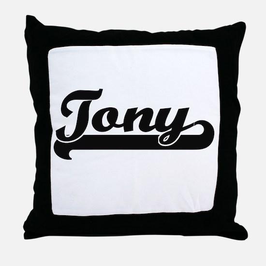Tony Classic Retro Name Design Throw Pillow