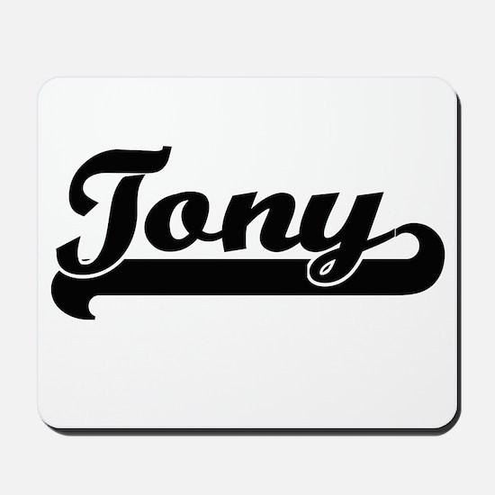 Tony Classic Retro Name Design Mousepad