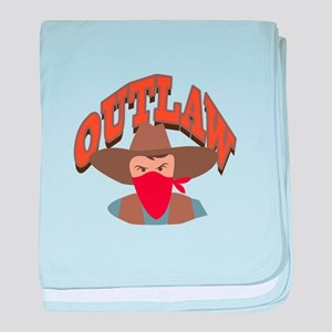 Outlaw baby blanket