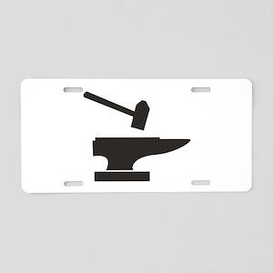 Hammer & Anvil Aluminum License Plate