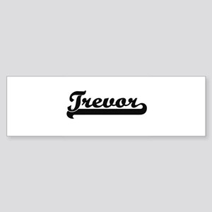 Trevor Classic Retro Name Design Bumper Sticker