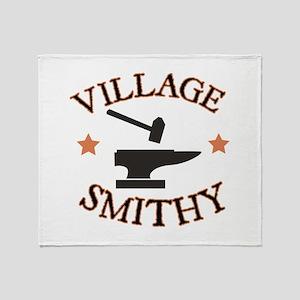 Village Smithy Throw Blanket