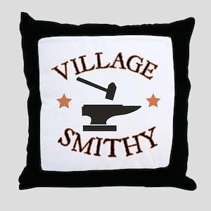 Village Smithy Throw Pillow