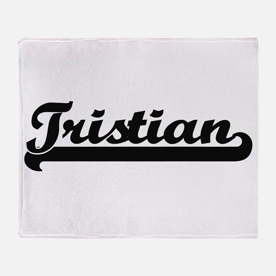 Tristian Classic Retro Name Design Throw Blanket