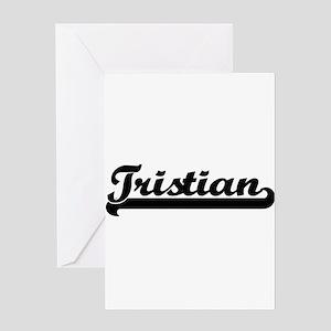 Tristian Classic Retro Name Design Greeting Cards