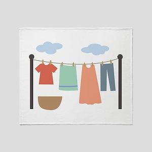 Clothesline Throw Blanket