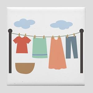 Clothesline Tile Coaster