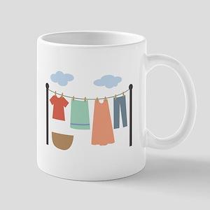 Clothesline Mugs