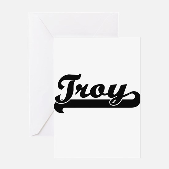 Troy Classic Retro Name Design Greeting Cards