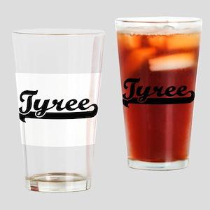 Tyree Classic Retro Name Design Drinking Glass