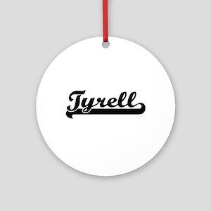 Tyrell Classic Retro Name Design Ornament (Round)