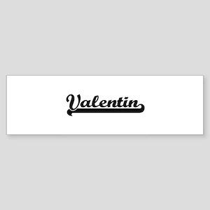 Valentin Classic Retro Name Design Bumper Sticker
