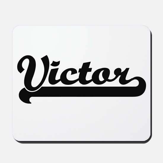Victor Classic Retro Name Design Mousepad