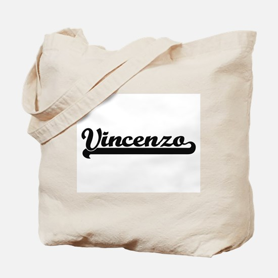 Vincenzo Classic Retro Name Design Tote Bag
