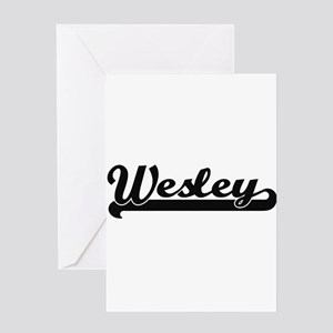 Wesley Classic Retro Name Design Greeting Cards
