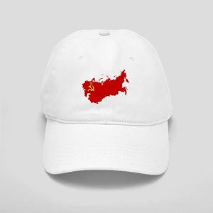 Red USSR Soviet Union map Communist Country Ru Cap