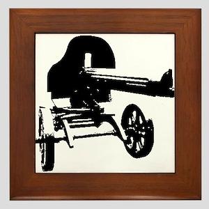 Heavy Maxim Machine Gun Framed Tile