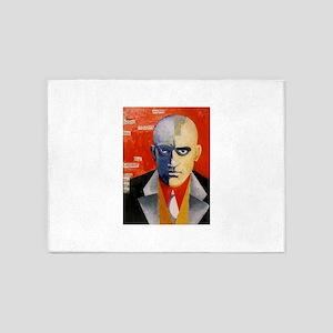 Mayakovsky soviet futurist avangard 5'x7'Area Rug