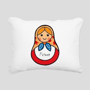 Matryoshka Russian Woode Rectangular Canvas Pillow