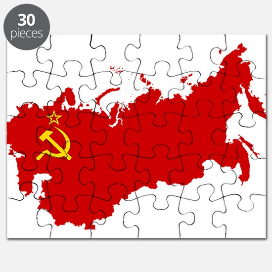 Red USSR Soviet Union map Communist Country Puzzle