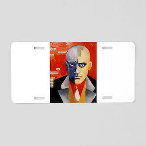 Mayakovsky soviet futurist Aluminum License Plate