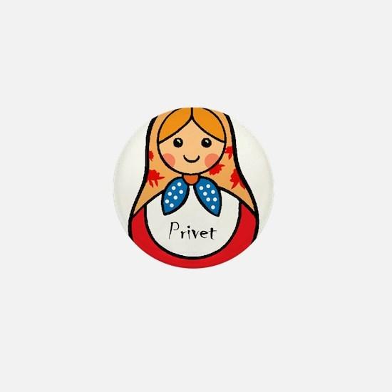 Matryoshka Russian Wooden Doll Mini Button
