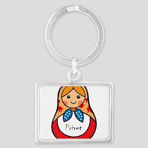 Matryoshka Russian Wooden Doll Keychains