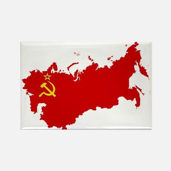 Red USSR Soviet Union map Communi Magnets