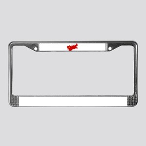 Red USSR Soviet Union map Comm License Plate Frame