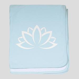 Buddhist Sacred Indian Lotus Flower B baby blanket