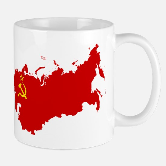 Red USSR Soviet Union map Communist Cou Mug