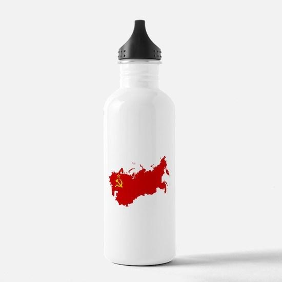 Red USSR Soviet Union Water Bottle