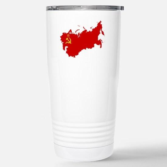Red USSR Soviet Union m Stainless Steel Travel Mug