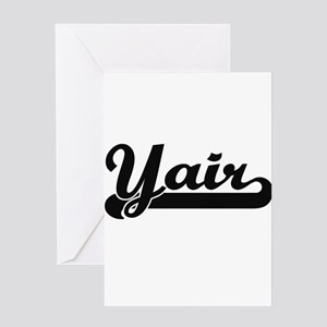 Yair Classic Retro Name Design Greeting Cards
