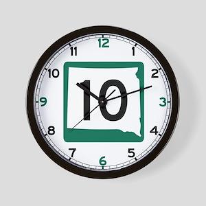 Highway 10, South Dakota Wall Clock