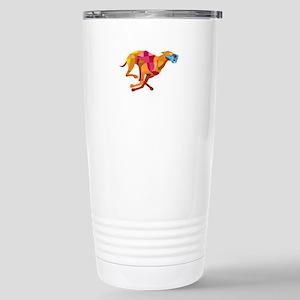 Greyhound Dog Racing Low Polygon Travel Mug