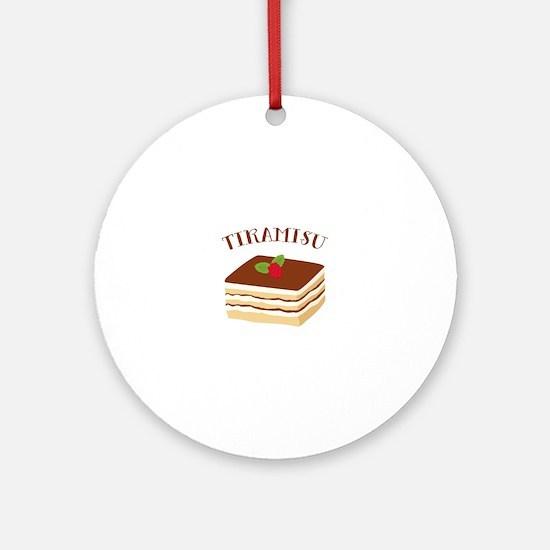 Tiramisu Ornament (Round)