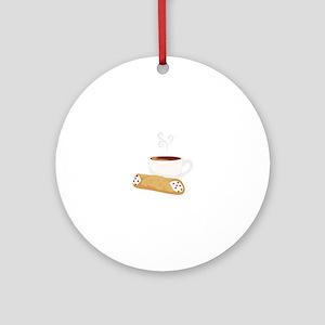 Cannoli & Coffee Ornament (Round)