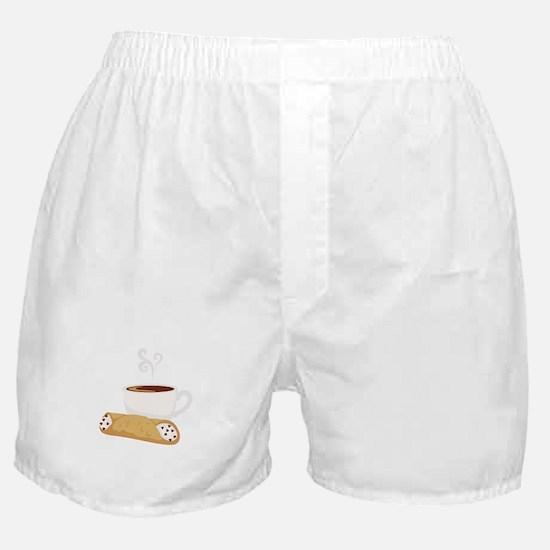Cannoli & Coffee Boxer Shorts