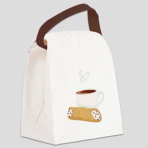 Cannoli & Coffee Canvas Lunch Bag